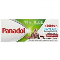 Panadol Chewable Children 3+ Years 24 Tablets