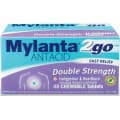 Mylanta 2go Antacid Double Strength 48 Tablets