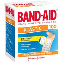 Band-Aid Plastic Adhesive Strips 100 Pack