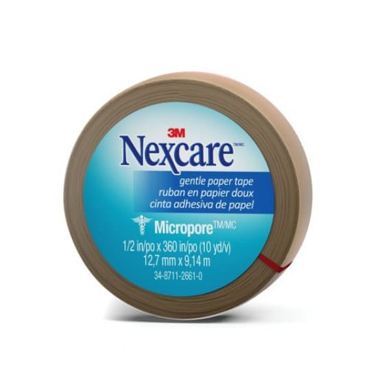Nexcare Micropore First Aid Tape 12.5mm x 9.1m Tan