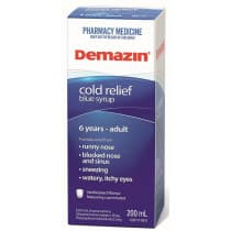 Demazin PE Cold Relief Blue Syrup 6 Years to Adult 200ml