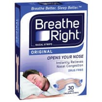 Breathe Right Nasal Strips Large 30 Original Strips