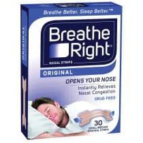 Breathe Right Nasal Strips Small/Med 30 Original Strips