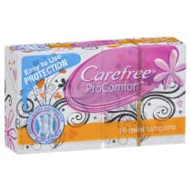 Carefree Procomfort Mini Tampons 16 Pack