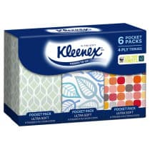 Kleenex Pocket Packs 4 Ply Tissues Ultra Soft 6 Packs