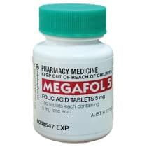 Megafol Folic Acid 5mg 100 Tablets