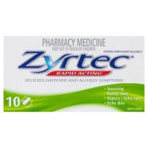 Zyrtec 10mg 10 Tablets