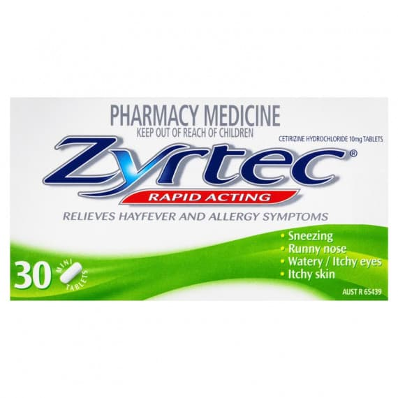 Zyrtec Rapid Acting 30 Tablets