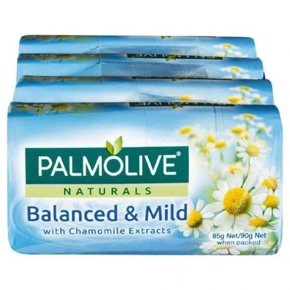 Palmolive Naturals Balanced and Mild Chamomile Soap 4 Pack
