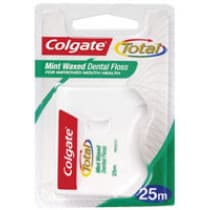 Colgate Total Mint Waxed Dental Floss 25m