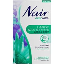 Nair Easiwax Large Wax Strips 20 Pack