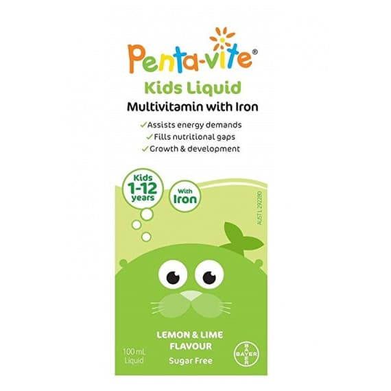 Penta-vite Multivitamin With Iron Oral Liquid Kids 100ml