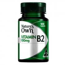 Natures Own Vitamin B2 100mg 100 Tablets