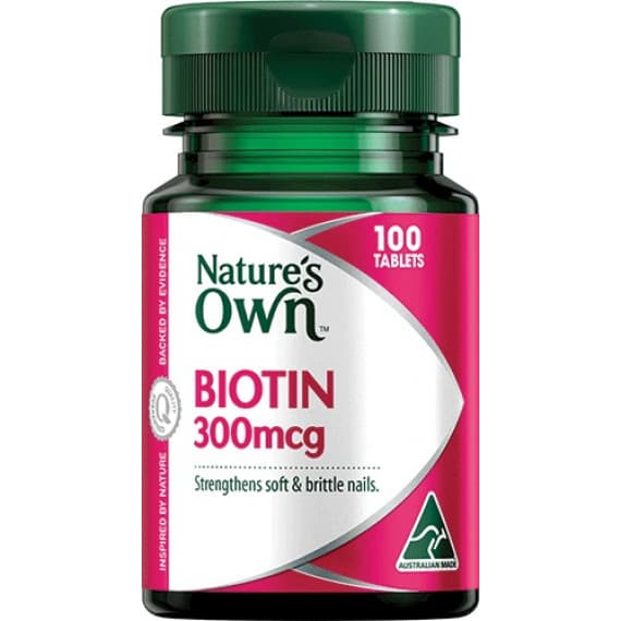 Natures Own Biotin 300mcg 100 Tablets