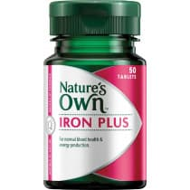Natures Own Iron Plus 50mg 50 Tablets