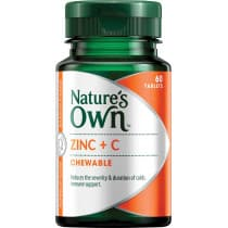 Natures Own Zinc + C 60 Chewable Tablets