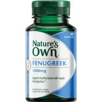 Natures Own Fenugreek 1000mg 60 Capsules