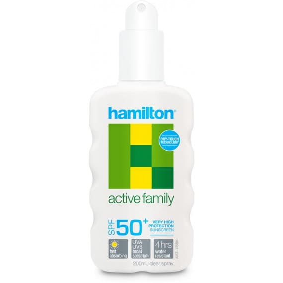 Hamilton Active Family Sunscreen SPF50+ Spray 200ml