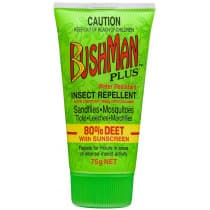 Bushman Plus Water Resistant Insect Repellent Gel With Sunscreen 75g