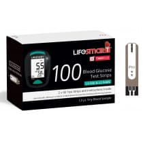 LifeSmart Two Plus Blood Glucose Test Strips 100 Pack