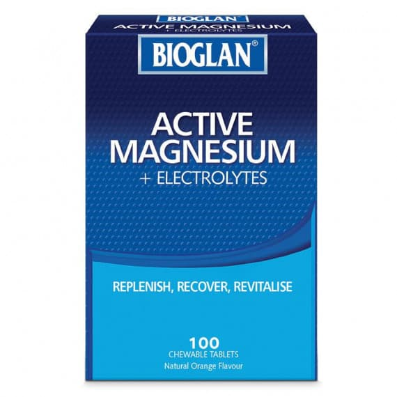 Bioglan Active Magnesium + Electrolyte 100 Chewable Tablets