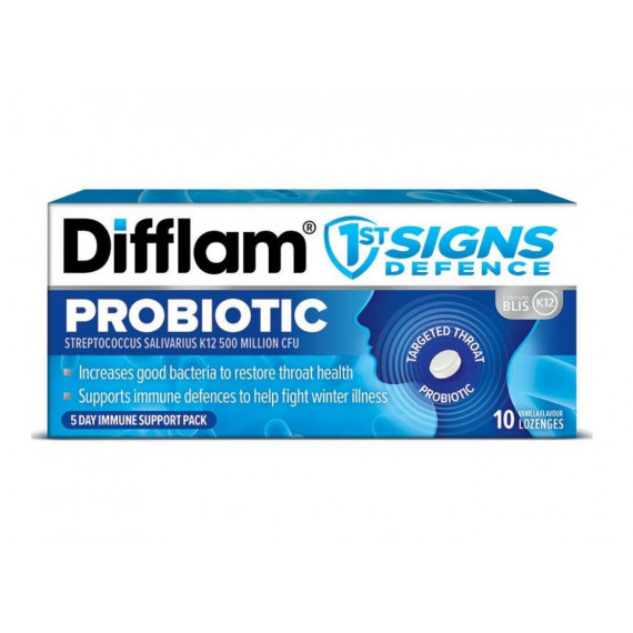Difflam First Sign Defence Probiotic 10 Lozenges