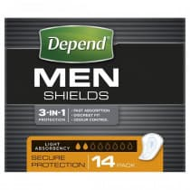 Depend Men Shields 14 pack