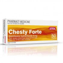 Pharmacy Action Chesty Forte 50 Tablets