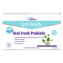 Henry Blooms Oral Health Oral Fresh Probiotic Peppermint 24 Chewables