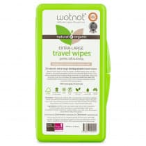 Wotnot Biodegradable Natural Baby Wipes with Travel Case 20 Pack