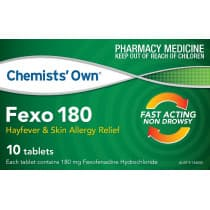 Chemists Own Fexo 180mg 10 Tablets
