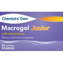 Chemists Own Macrogol with Electrolytes Junior 6.88g 30 Sachets