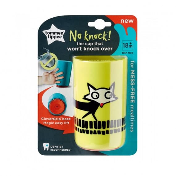 Tommee Tippee No Knock Cup Yellow Fox 18m+ 1 Pack