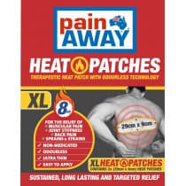Pain Away Heat Patches Extra Large 29cm x 9cm 2 Pack