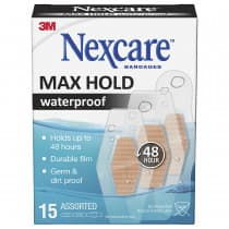 Nexcare Max Hold Waterproof Bandages Assorted 15 Pack
