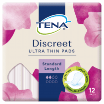 Tena Discreet Ultra Thin Pads Standard Length 12 Pack