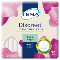 Tena Discreet Ultra Thin Pads Long Length 12 Pack