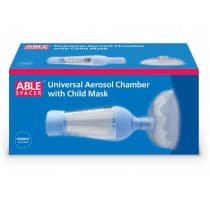 Able Spacer Universal Aerosol Chamber With Child Mask
