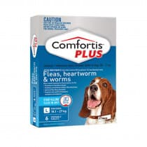 Comfortis Plus For Dogs Blue Large 18.1 - 27kg 6 Pack