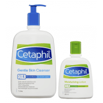 Cetaphil Gentle Skin Cleanser 1 Litre + Moisturising Lotion 250ml