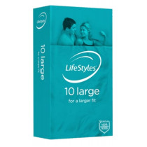 LifeStyles Large Condoms 10 Pack