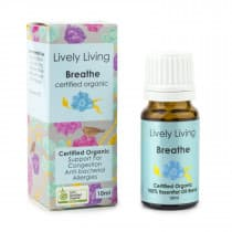 Lively Living Essential Oil Blend Certified Organic Breathe 10ml