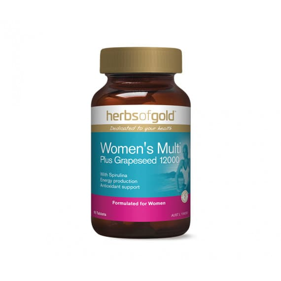 Herbs of Gold Womens Multi Plus Grape Seed 12000 90 Tablets