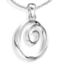 B-Jewel GCP O Stainless Steel Pendant
