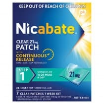 Nicabate Clear Patches 21mg 7 Patches