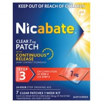Nicabate Clear Patches 7mg 7 Patches