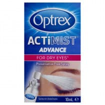 Optrex Actimist Advance Preservative Free Dry Eyes Eye Spray 10ml