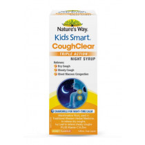 Natures Way Kids Smart Cough Clear Triple Action Night Syrup 120ml