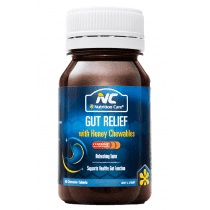 Nutrition Care Gut Relief With Honey Chewables 60 Tablets