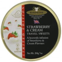 Simpkins Travel Tin Strawberries & Cream 200g
